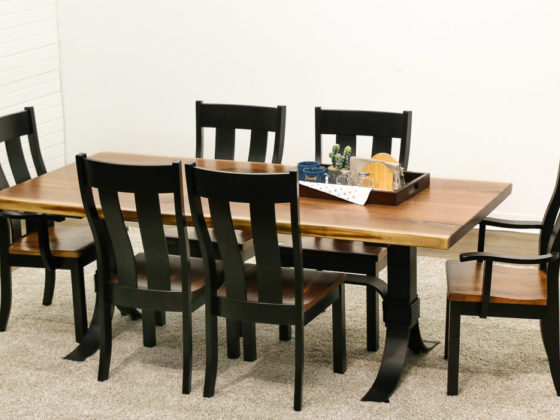 Live Edge Dining Table with Urbana Chairs