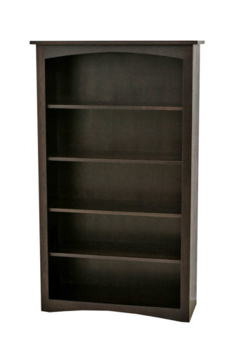 "60"" Ebony Shaker Bookcase"