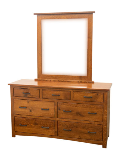 "60"" Craftsman Low Dresser & Mirror"