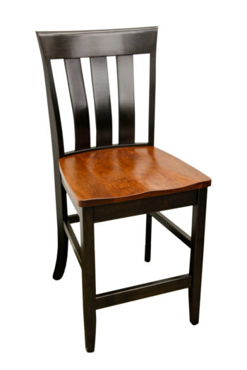 "24"" Cherry Curlew Bar Chair"