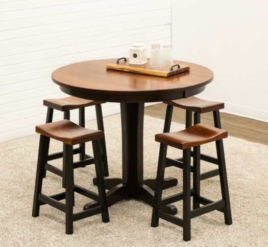 Glacier Pub Table with 4 Urban Stools