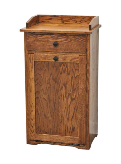 Oak Mission Dry Sink Trash Bin