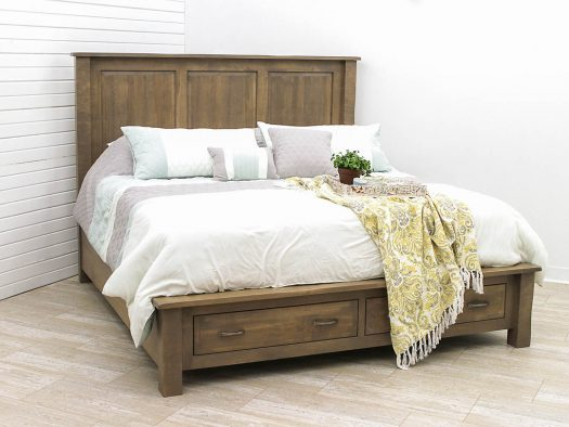 Savannah King Bed with Footboard Drawers