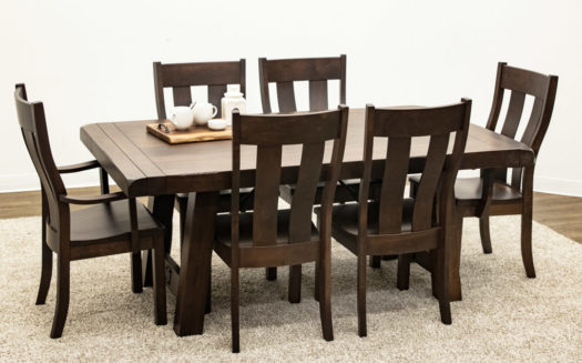 Settler's Trestle Table with 6 Urbana Chairs