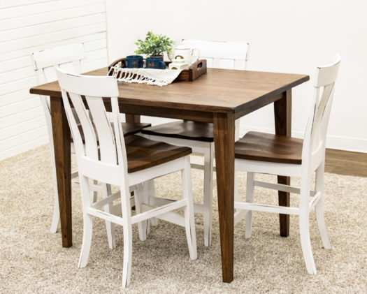 Hickory Camden Shaker Pub Table with 4 Kinglet Bar Chairs