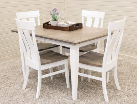 Granite Shaker Leg Table with 4 Kinglet Chairs