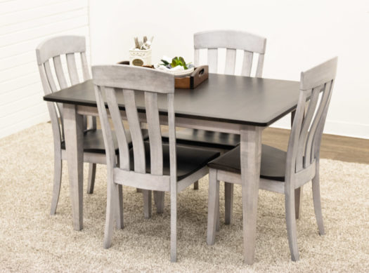 Cambria Leg Table with 4 Oregon Chairs
