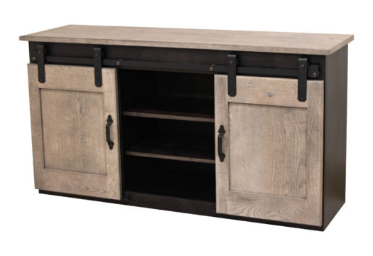 "RWO 60"" Sliding Barn Door TV Stand"