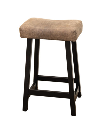 "24"" Urban Stool with Faux Leather Seat"