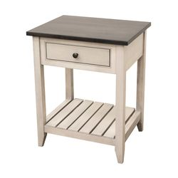 Cambria Nightstand with Slatted Shelf