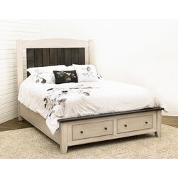 Cambria Queen Bed with Footboard Drawers