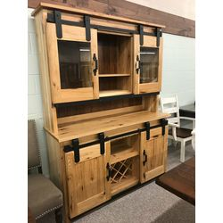 2pc. Barn Door Hutch