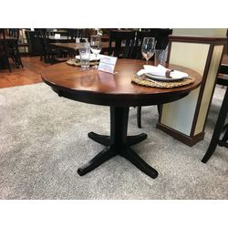 "44"" Round Glacier Single Pedestal Table"
