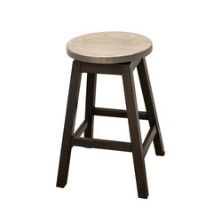 "24"" Mission Swivel Stool with Round Seat"