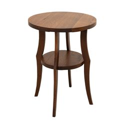 Round Plank End Table