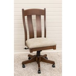Austin Desk Chair with Faux Leather Seat