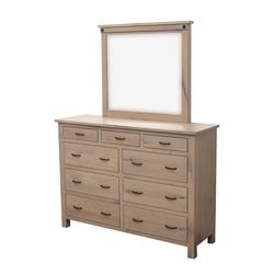 "62"" Cambridge Tall Dresser with Beveled Mirror"