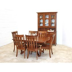 Carlisle Double Pedestal Dining Set