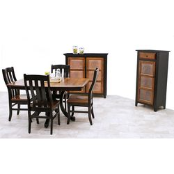 Carlisle Single Pedestal Dining Set