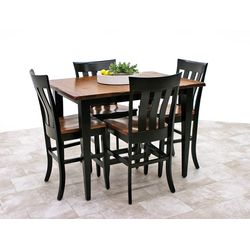 QSWO Camden Shaker Pub Table with 4 Curlew Bar Chairs
