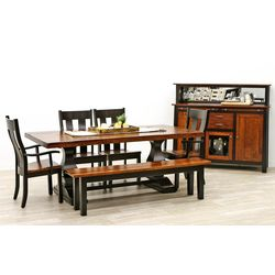 Hillside Double Pedestal Dining Set