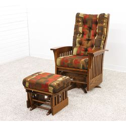 86-1 Deluxe Swivel Glider with #86-4 Ottoman Set