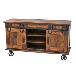 QSWO Barn Door TV Cart