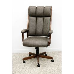CE58 Desk Chair w/ Grey Leather