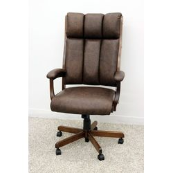 CE58 Desk Chair w/ Brown Leather