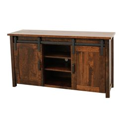 "60"" Cherry Arcadia Post TV Stand"