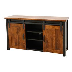 "60"" 2T Timber Mill Post TV Stand"