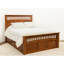 Craftsman Queen Bed with Siderail Drawer Units