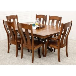 Carlisle Double Pedestal Table with 6 Austin Chairs