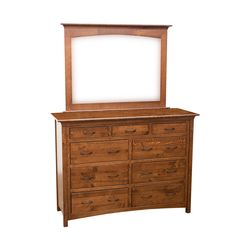 "60"" DCF Mission Tall Dresser & Mirror"
