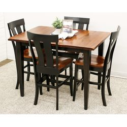 Cherry Camden Shaker Pub Table with 4 Kinglet Bar Chairs