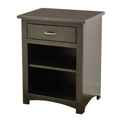 Weston 1-Drawer, Open Nightstand