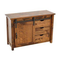 "48"" QSWO Timber Mill Post TV Stand"