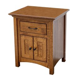 DCF Mission 1-Drawer, 2-Door Nightstand