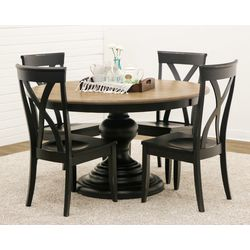 DC Global Pedestal Table with 4 Brooke Chairs