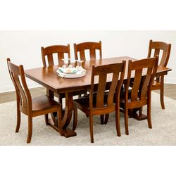 Biltmore Double Pedestal Table with 6 Austin Chairs