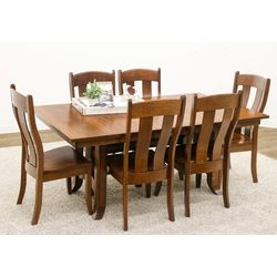 Shaker Hill Trestle Table with 6 Austin Chairs
