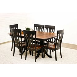 Ellington Double Pedestal Table with 6 Chairs
