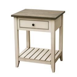 Capetowne Nightstand with Slatted Shelf