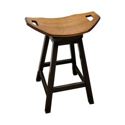 "24"" Mission Swivel Saddle Stool"