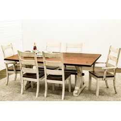 Western Dining Table with 6 Western High Back Chairs