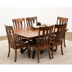 Carlisle Double Pedestal Table with 6 Curlew Side Chairs